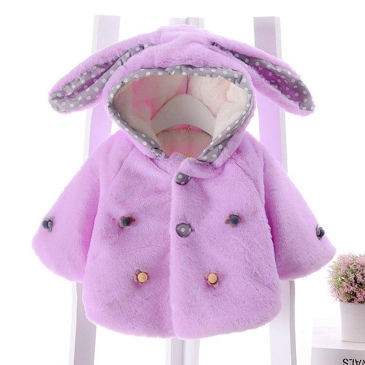 Attent Bibicola Mode Stijl Baby Meisjes Herfst Winter Jassen Baby Fleece Fluwelen Lange Mouwen Bovenkleding Waggel Dikke Katoenen Jassen
