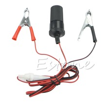 New DC 12V Car Auto Clip-on Cigarette Lighter Socket Battery Clips Power Adapter JUN12