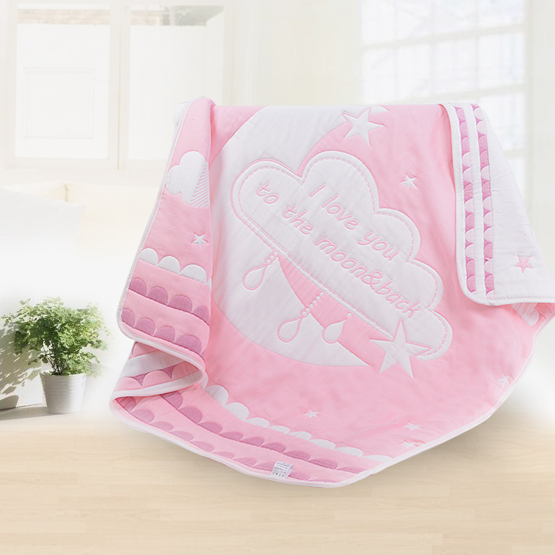 2018 Spring New Baby Blanket 8 Layers of Cotton Gauze Children Are 110*110CM Soft and Comfortable Kawaii Cartoon Solitary Towel mydyicat 8 110cm