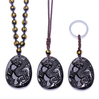 A Zodiac Chicken Mascot Snake Pendant Pendant Taisui Paul Year Of Fate Diy Real Stone Obsidian