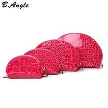 High quality colorful 4 size 1 set alligator cosmetic bag make up bag storage bag  women bag leopard print