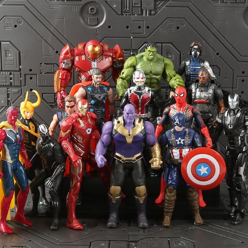 Новые мстители 3 бесконечные войны фильм Аниме Супер Герои Капитан Америка, Железный человек паук Халк Тор супергерой фигурка игрушки|Игровые фигурки и трансформеры|   | АлиЭкспресс