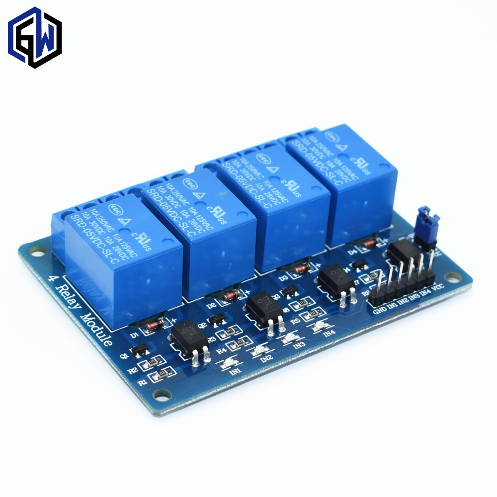 30pcs lot TENSTAR ROBOT With optocoupler 4 channel 4 channel relay modules relay control panel PLC