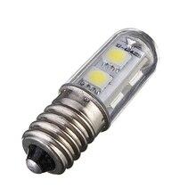 High Quality E14 1W 5050 SMD 7 LED White Warm White Corn Lights Bed Fridge Candle Lamp Spotlight Bedroom Bulb 220-240V