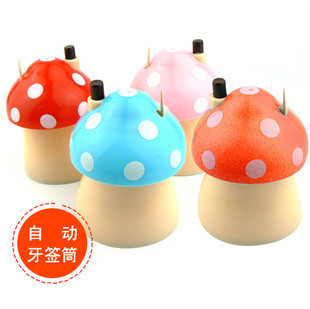Mushroom toothpick box automatic toothpick tube toothpick jar at home toothpick bottle