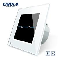 Free Shipping Livolo Crystal Glass Panel EU Standard VL C702SR SR1 Wall Light 2 Way Remote