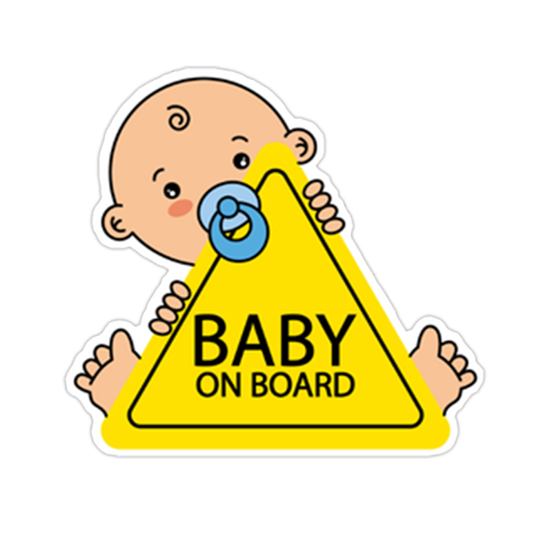 Baby On Board PVC Car Stickers Tuning Cartoon Window Decals Automobiles Decoration Personalized Bomb Ornament