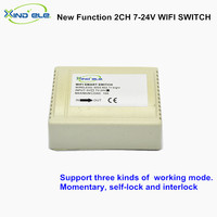 XIND ELE WiFi Switch 2CH 7V 12V 24V DC 10A Smart Home Wi Fi Interruptor Control