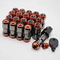 20 unids neo chrome racing tuercas m12x1.5mm de acero forjado para toyota scion acura honda