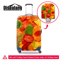 Travel Suitcase Protective Cover Colorful Leaves Stretch Trolley Luggage Cover Suit For 18 30 Inch Case Travel Accessories