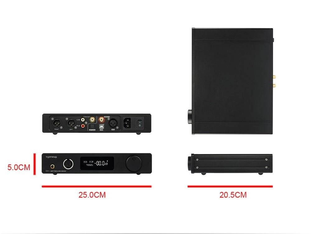 TOPPING DX7s 32Bit/768K DSD512 Full balanced USB DAC Amplifier-12