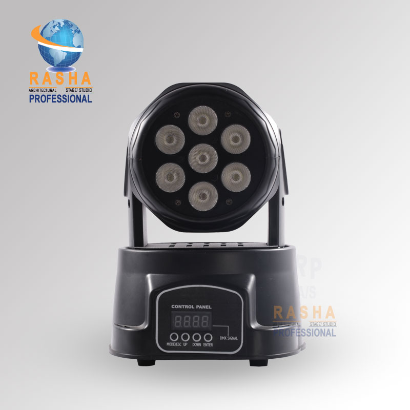 24X LOT Factory Price Stage Light 7pcs*12W 4IN1 RGBW MINI LED Moving Head Wash Light,ED Moving Head For Event,Disco Party factory price 4pcs led moving head zoom wash light 36x10w rgbw 4 in1 stage night club disco bar uplighting fast