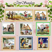 Enjoy life patterns counted Cross Stitch 11CT 14CT Cross Stitch Set Wholesale DIY Chinese Cross-stitch Kit Embroidery Needlework red rose on the table painting counted 11ct 14ct cross stitch wholesale diy cross stitch kit embroidery needlework home decor