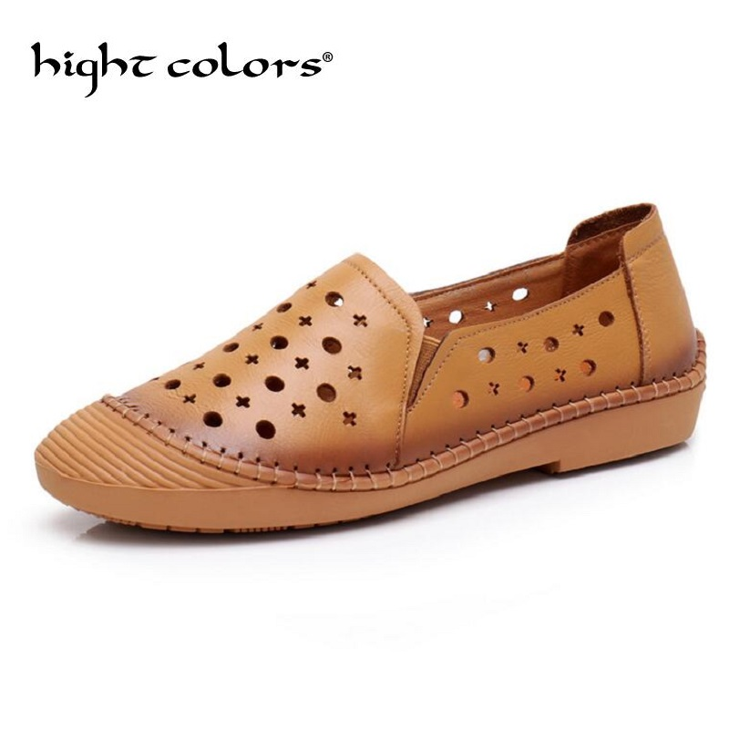 Summer Women Flats Shoes Moccasins Mother Loafers Soft Genuine Leather Ladies Casual Shoes Flats Driving Women Footwear Shoes split leather dot men casual shoes moccasins soft bottom brand designer footwear flats loafers comfortable driving shoes rmc 395