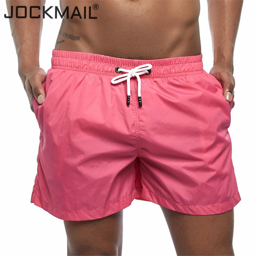 JOCKMAIL Men's Board Shorts Fast Dry New Summer Holiday Beach Surf Swimming Trunks Male Sport Athletic Running Gym Shorts