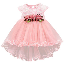 Infant Kids Baby Girl clothes Summer Dress for Girls Floral round neck sleeveless cotton casual Princess Party Dresses for Girls