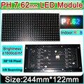 SMD P7.62 RGB LED модуль + M3-1317 Винты, 1/8 Режим Сканирования, Крытый/Полу-открытый полноцветный СВЕТОДИОДНЫЙ дисплей панели, 244 мм * 122 мм