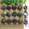 fashion nickle color metal snap button hand press decorative DIY leather craft clothing sewing accessories
