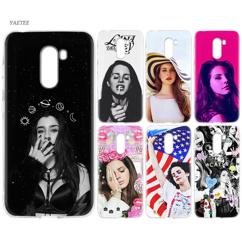 YAETEE Sexy singer model Lana Del Rey Silicone Case for Xiaomi Pocophone f1 Mi A2 Lite A1 Redmi Note 4X 5 5A 6 Pro S2 Plus
