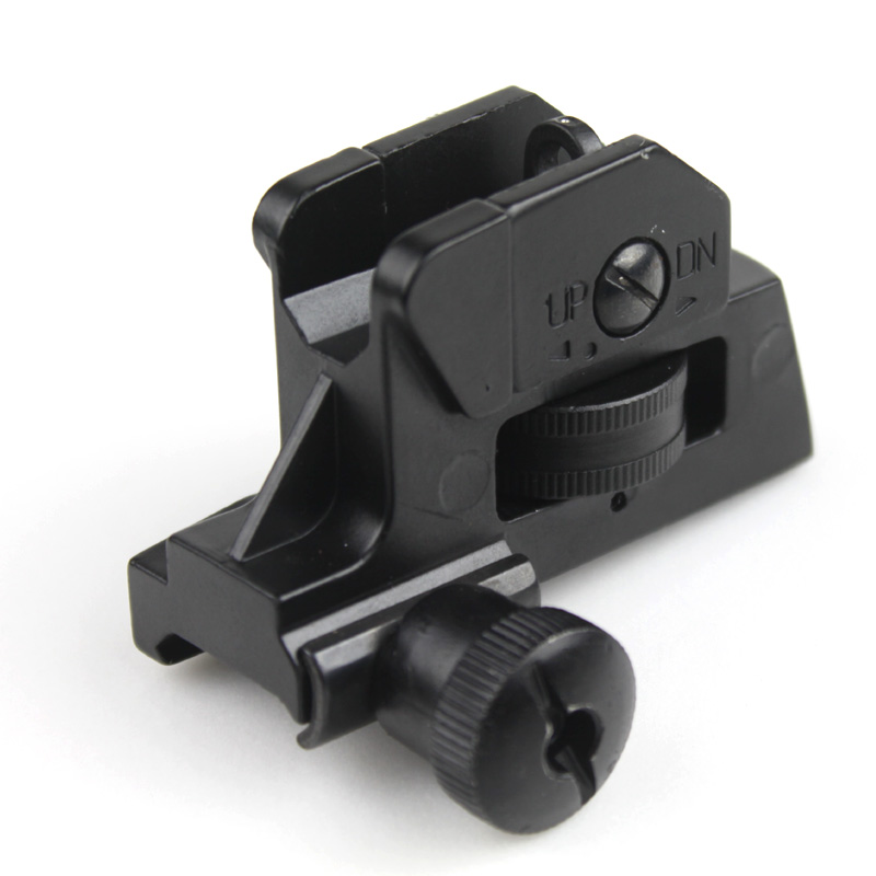 Hunting Accessories Tactical Detachable Compact Backup CQB Rear Sights With Full Windage/Elevation Adjustment