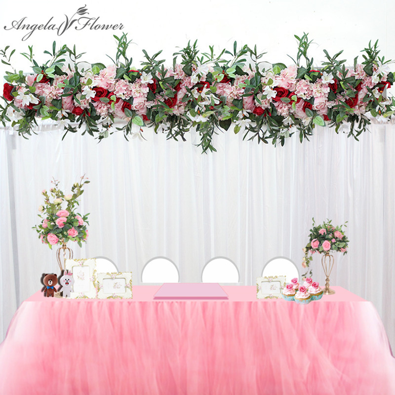 1M wedding decor luxury Road cited artificial flore rose peony hydrangea mix DIY arched door Flower