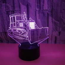 3D Визуальный бульдозер иллюзия Лампа 7 цветов Изменение Ночной светильник светодиодный сенсорный стол Bulbing Декор рождественские подарки