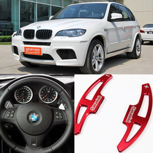 купить tommia For BMW X5 M 2010-2013 2pcs Steering Wheel Aluminum Shift Paddle Shifter Extension Car-styling дешево