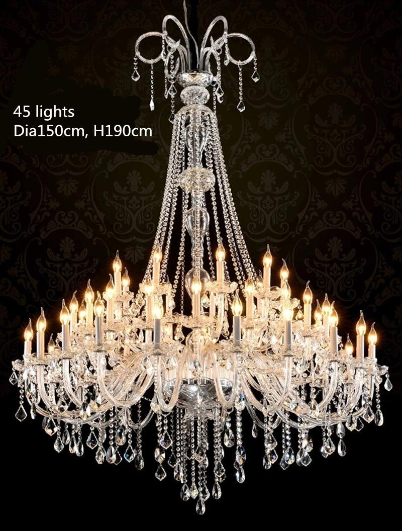 moderne grand lustre led eclairage lustre lampe grande eglise salon decor lumieres eclairage interieur lustres en cristal led lustre salon plafonnier