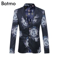 2016 New Arrival High Quality Famous Brand Casual Printed Blazer Men Business Suit Jacket Size S