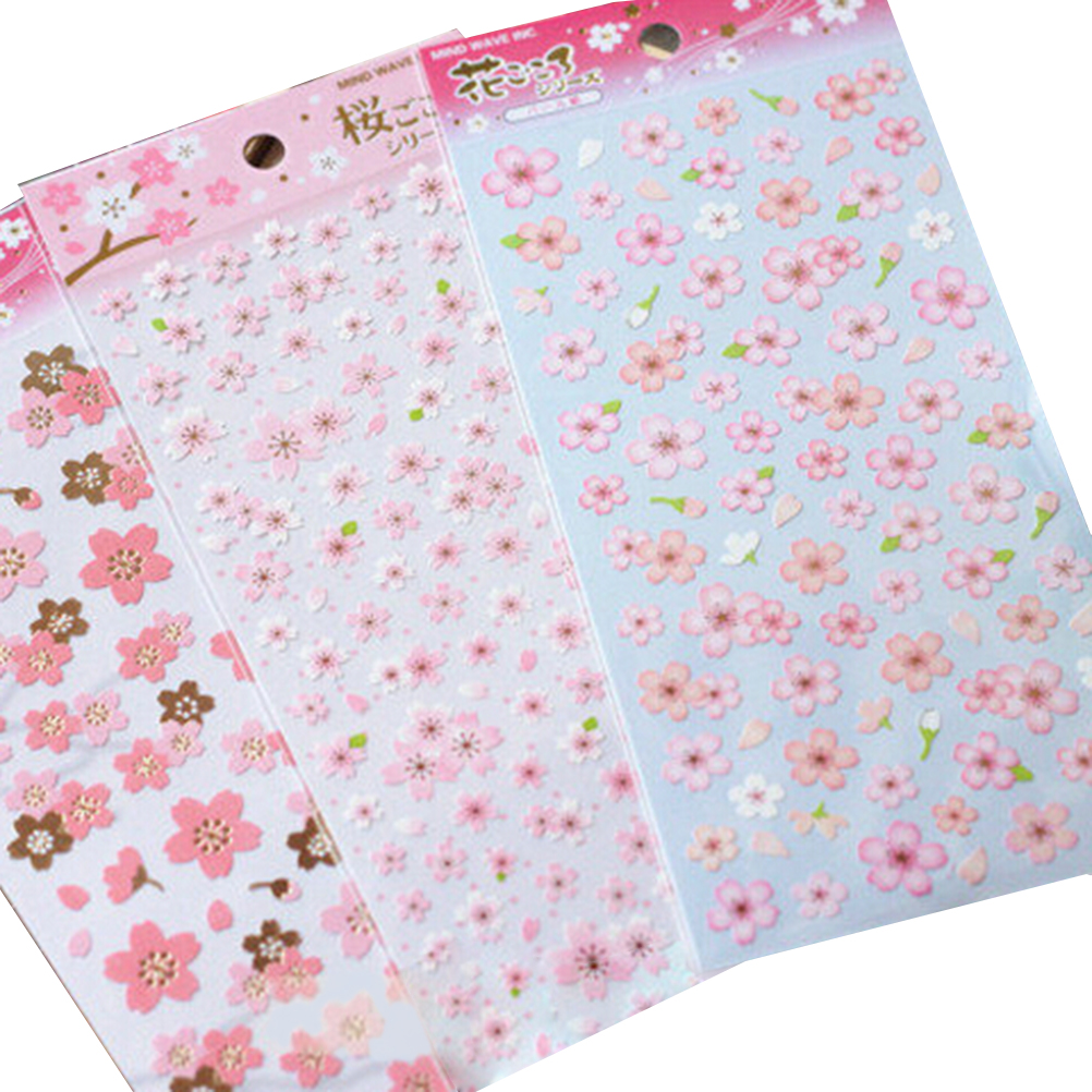 1Sheet Japan Style Oriental Cherry Blossom Diary Deco Scrapbooking PVC Material Masking Sticker Kids Toy Stickers Hot