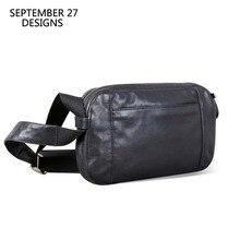 الرجال حقيبة كتف عادية حقيبة يد جلد طبيعي الذكور حقيبة صغيرة اليدوية 100% جلد البقر الموضة حقيبة صغيرة السفر حقائب كروسبودي