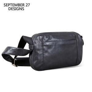 Image 1 - Men Casual Shoulder Bag Handbag Genuine Leather Male Small Bag handmade 100% Cowhide Fashion Mini Satchel Travel Crossbody Bags
