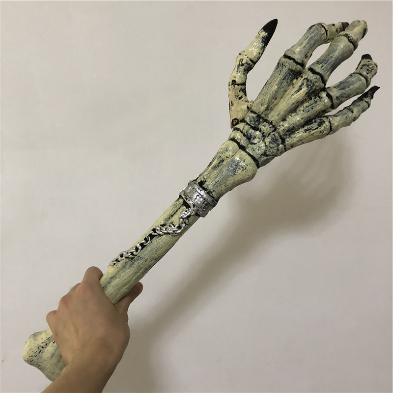 Halloween Cosplay Prop Scary Skeleton Grab Arm Surprise 1:1 PU Weapon Movie Game Anime Cos Kids Role Play Gift Safety PU