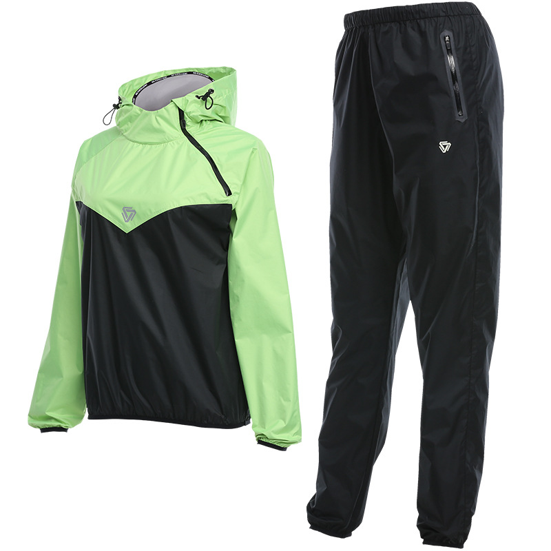Women Sauna Suits For Weight Loss Sport Training Fitness Jacket+Pants Sports Suit Running Fast Sweating Gym Boxing Mma Clothing
