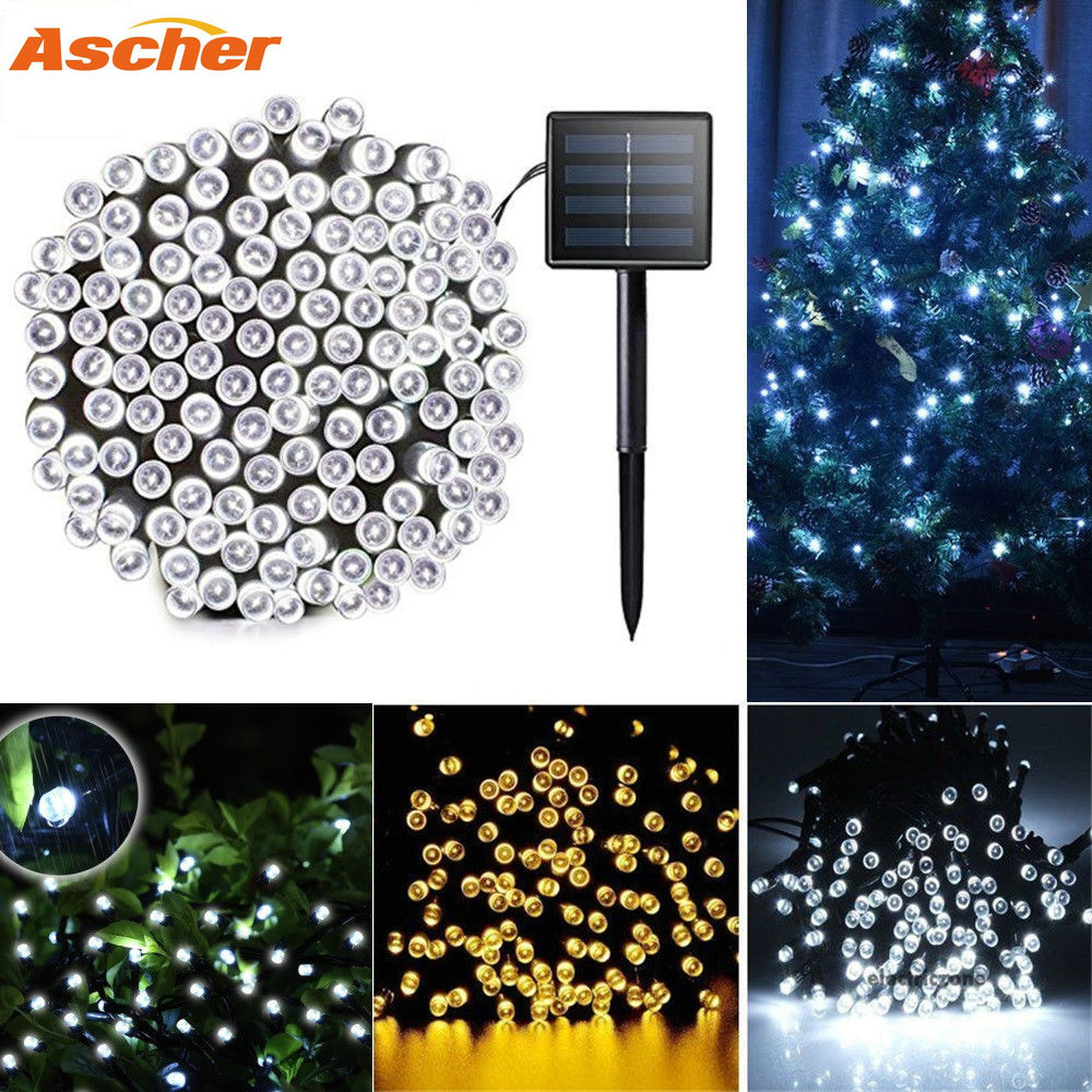 Garden Solar Light String IP44 Waterproof Landscape Night Outdoor Lawn Lamp 22M 200Led 12M 100Led Fairy Christmas Decoration