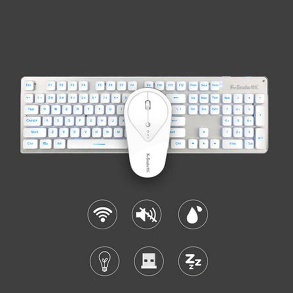 Doelstelling Fd Wk500 Ultra Slim 2.4g Draadloze Toetsenbord Muis Set Gaming Toetsenbord Muis Combo Kit Voor Desktop Laptop Computer Stille Klik Hoge Veiligheid