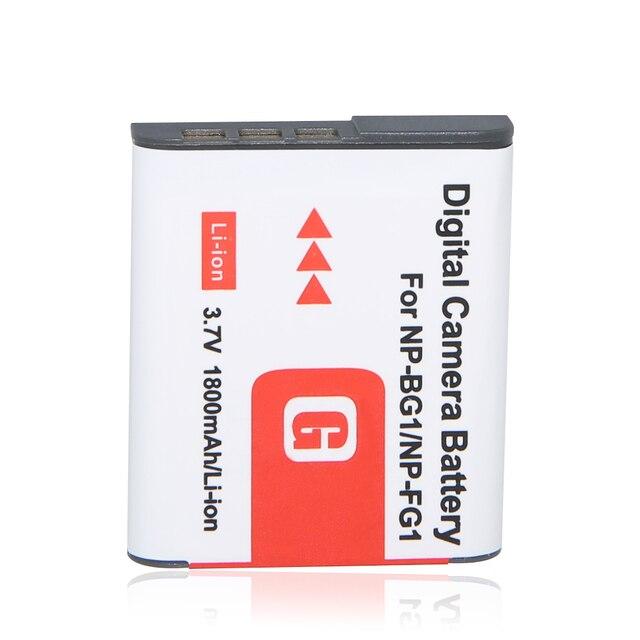 1 Шт. 1800 мАч NP-BG1 NP BG1 Аккумулятор Для SONY Cyber-shot DSC-H3 DSC-H7 DSC-H9 DSC-H10 DSC-H20 DSC-H50 DSC-H55 DSC-H70 Камеры