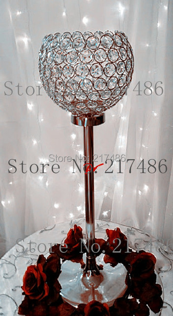 Crystal Wedding Centerpieces Candelabra Hanging Decoration Table Pieces Candle Holder