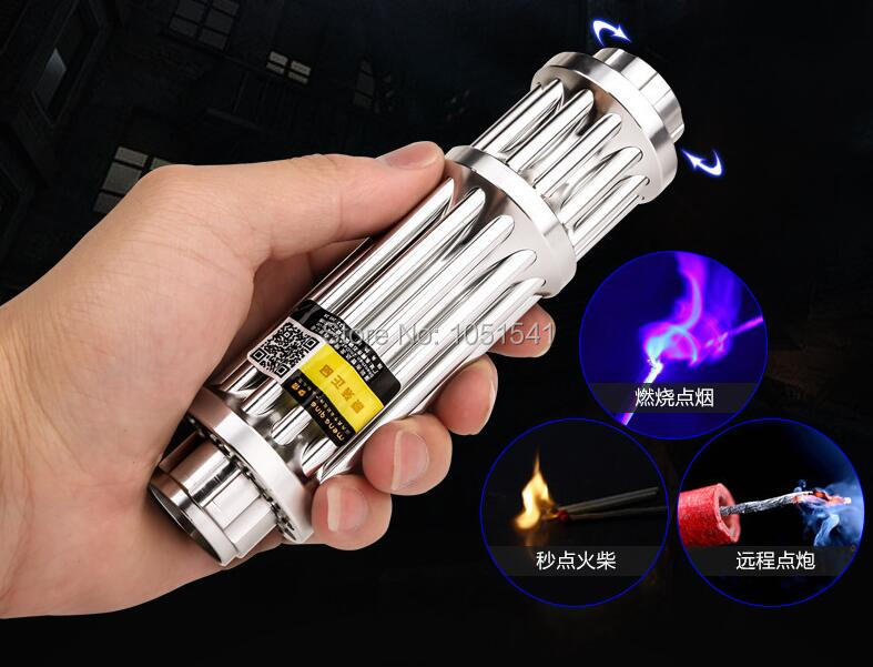HOT! High Power 100W 1000000m Blue Laser Pointers 450nm Lazer Flashlight Burning Match/Burn light cigars/candle/black Hunting