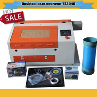 Hot Sell 50w CNC CO2 Laser Engraver Cutting Machine TS4030 water cooling laser engraving