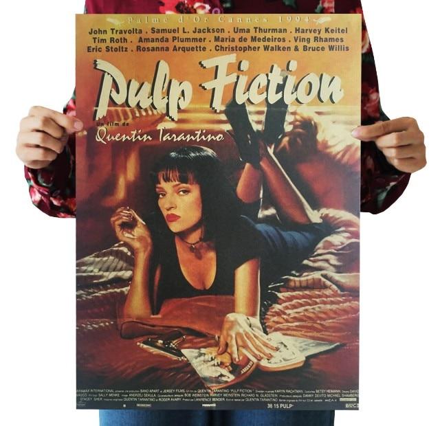 Pulp Fiction Vintage Kraft Paper Movie Poster Map Home Decor  Art  Retro Posters And Prints Decorativos