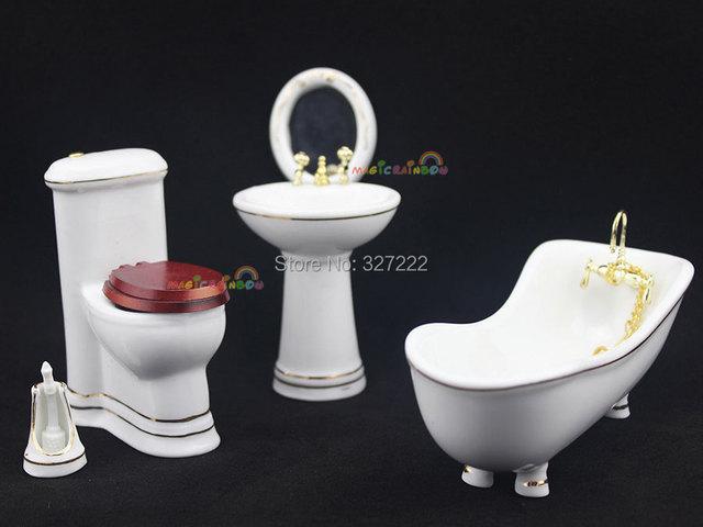 Bagno vasca da bagno lavabo wc spazzola specchio porcellana