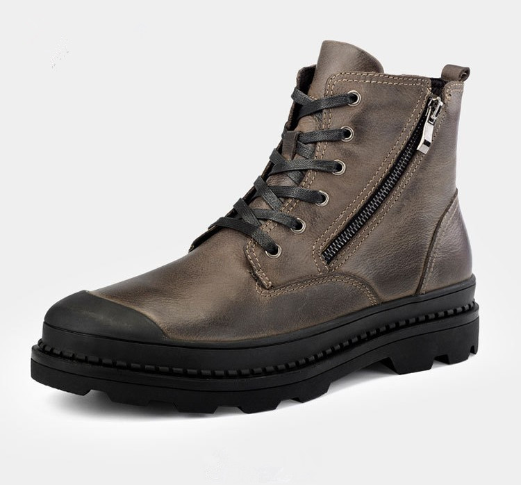 New retro leather moto boots 883 fat boy motorcycle heavy cruiser shoes motorbike Martin boots 2