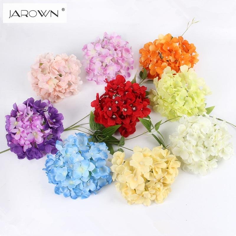 Luksuzni umjetna svila hortenzija cvijet glavu 15cm za DIY vjenčani - Za blagdane i zabave - Foto 2