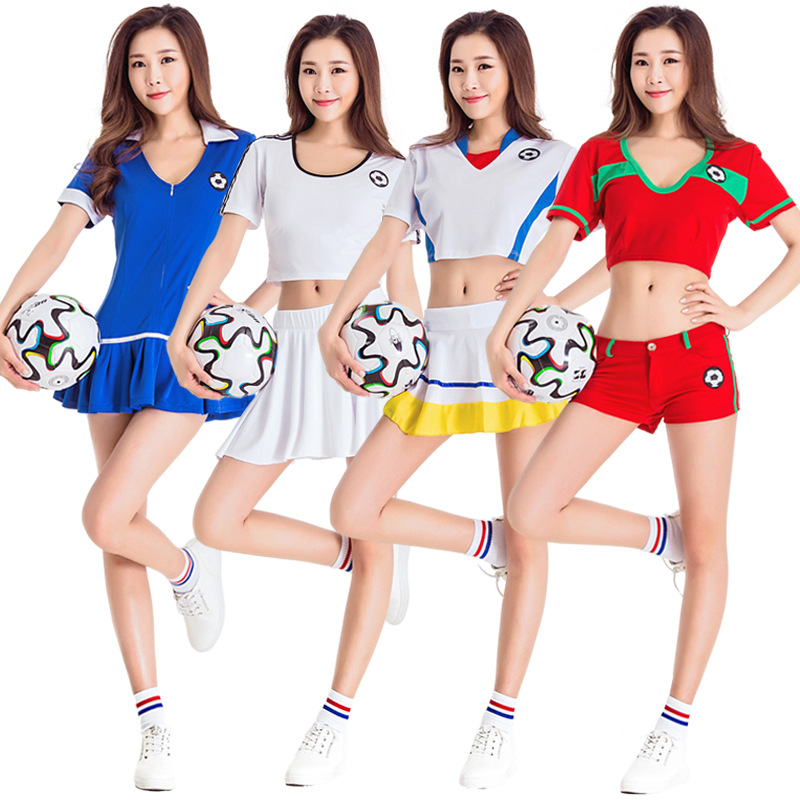 c2b237141 Sexy Girl Football Soccer Cheerleader Dress Cheer Outfit High School Game Cheerleader  Costume