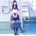 Japanese sailor suit Girls High school student uniform cosplay short-sleeve JK uniform custom shirt skirt bow tie
