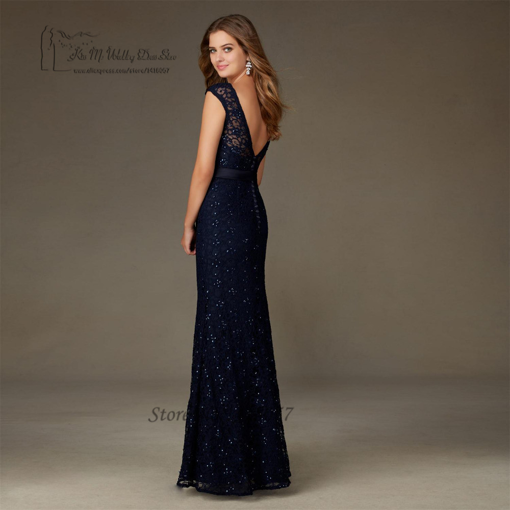 Navy blue dress wedding guest wedding dresses designs for Long blue dress for wedding
