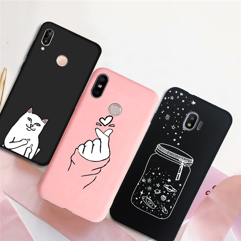 Phone-Cover-Case J530f Coque J330F Love Heart Silicone Plus Samsung Galaxy S10e J2 Prime