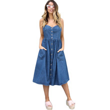 79a173a69ccc0 Vestido Jeans Denim Midi Promotion-Shop for Promotional Vestido ...