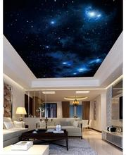 Custom photo wallpaper 3d ceiling wallpaper Dreamy beautiful star ceiling zenith mural wallpapers for living room painting decor